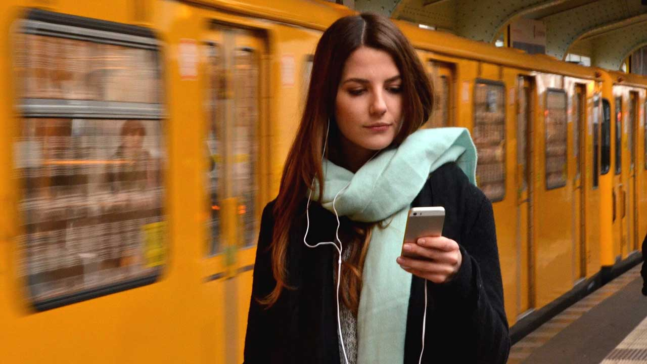 Young woman browsing mobile phone
