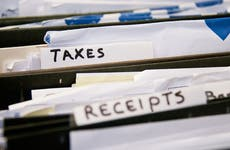 Taxes filed in cabinet