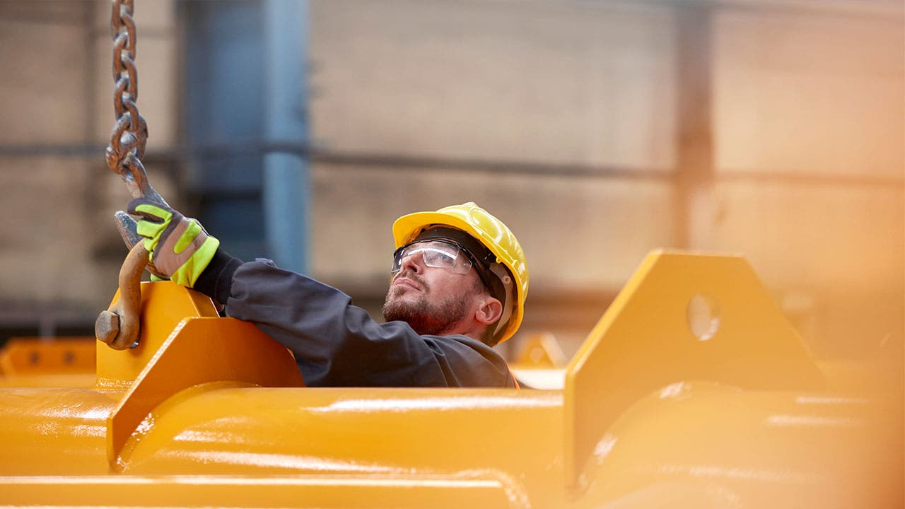 Man in a manufacturing plant