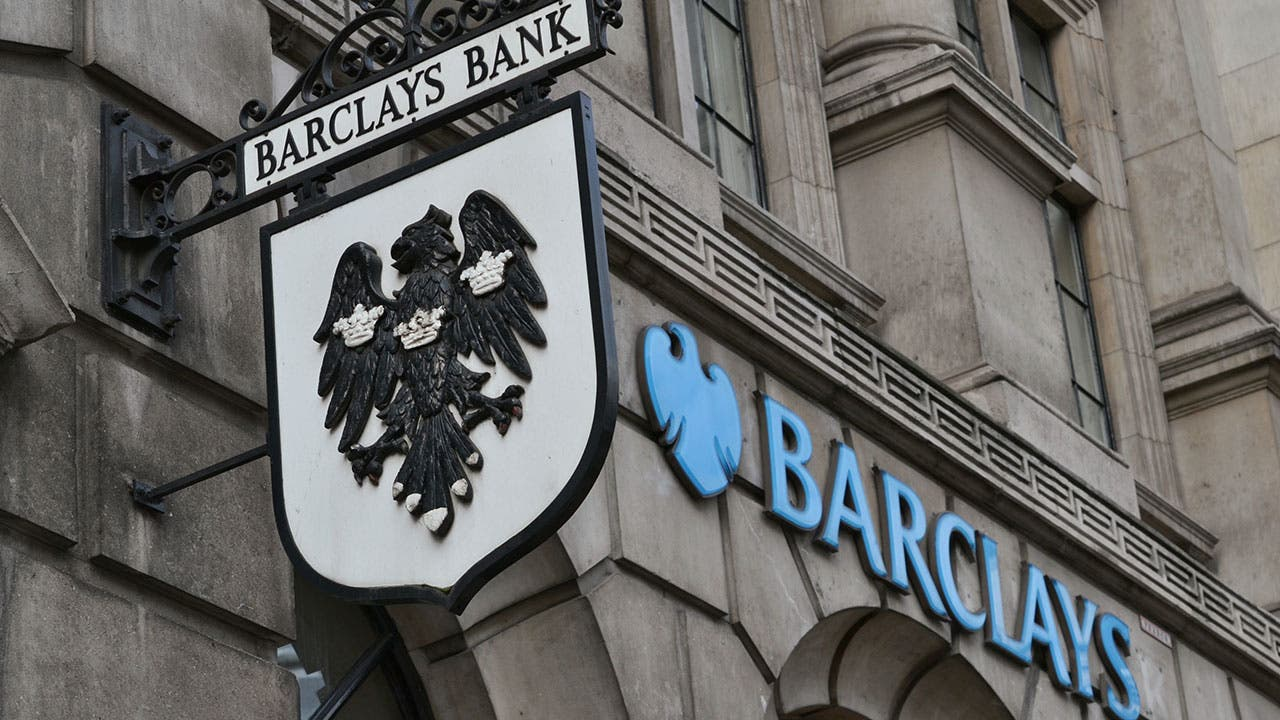 Barclays bank signage