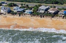 Florida coast with erosion