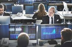 Investors looking at stocks