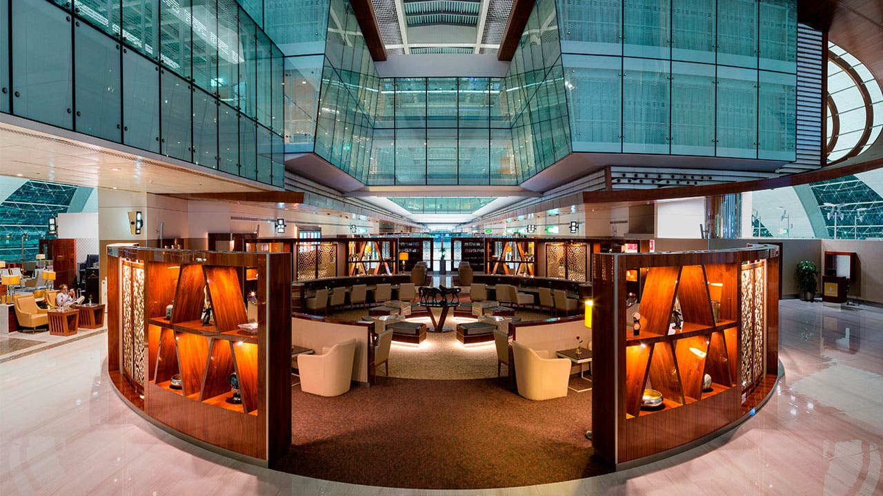 Emirates airport lounge