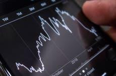 Stock graph on app