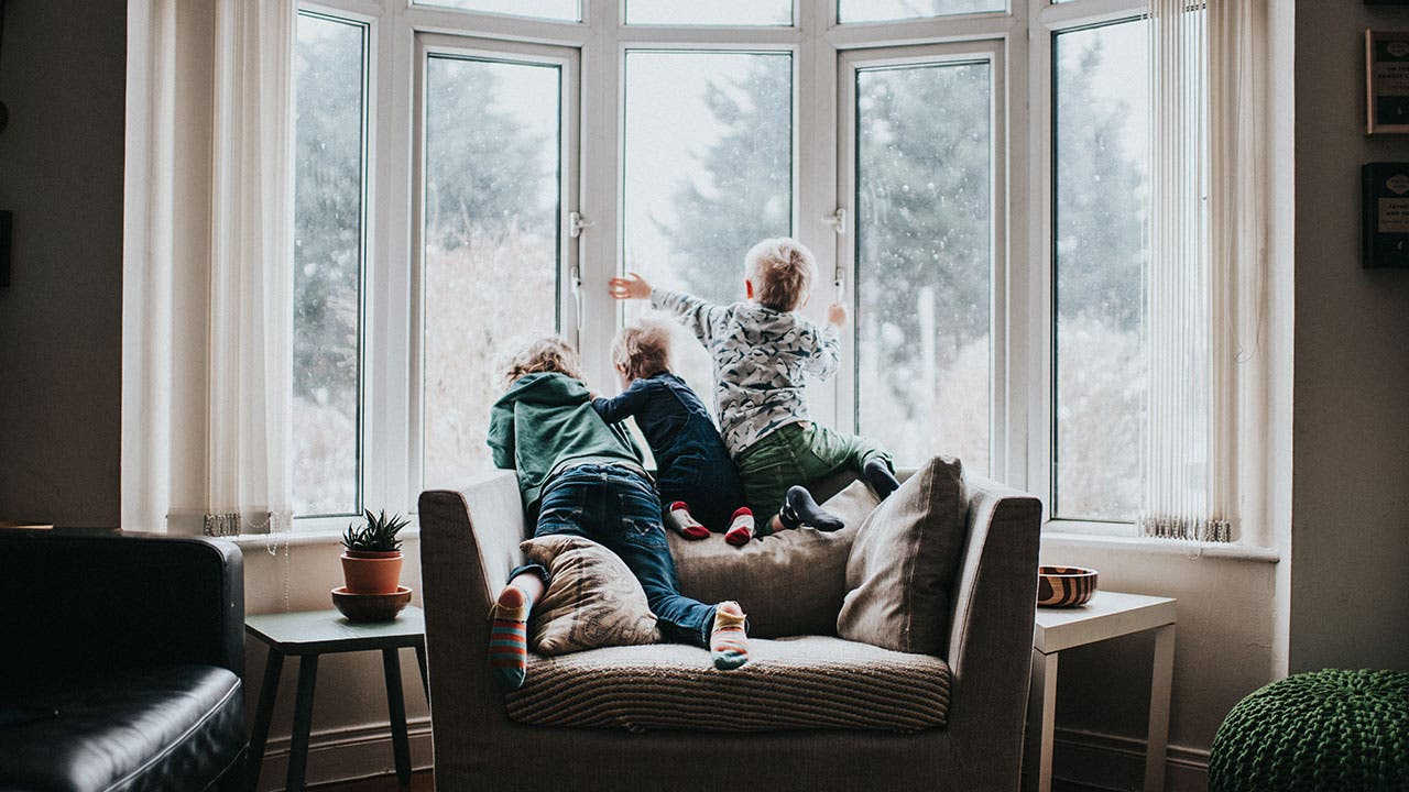 Kids playing on couch
