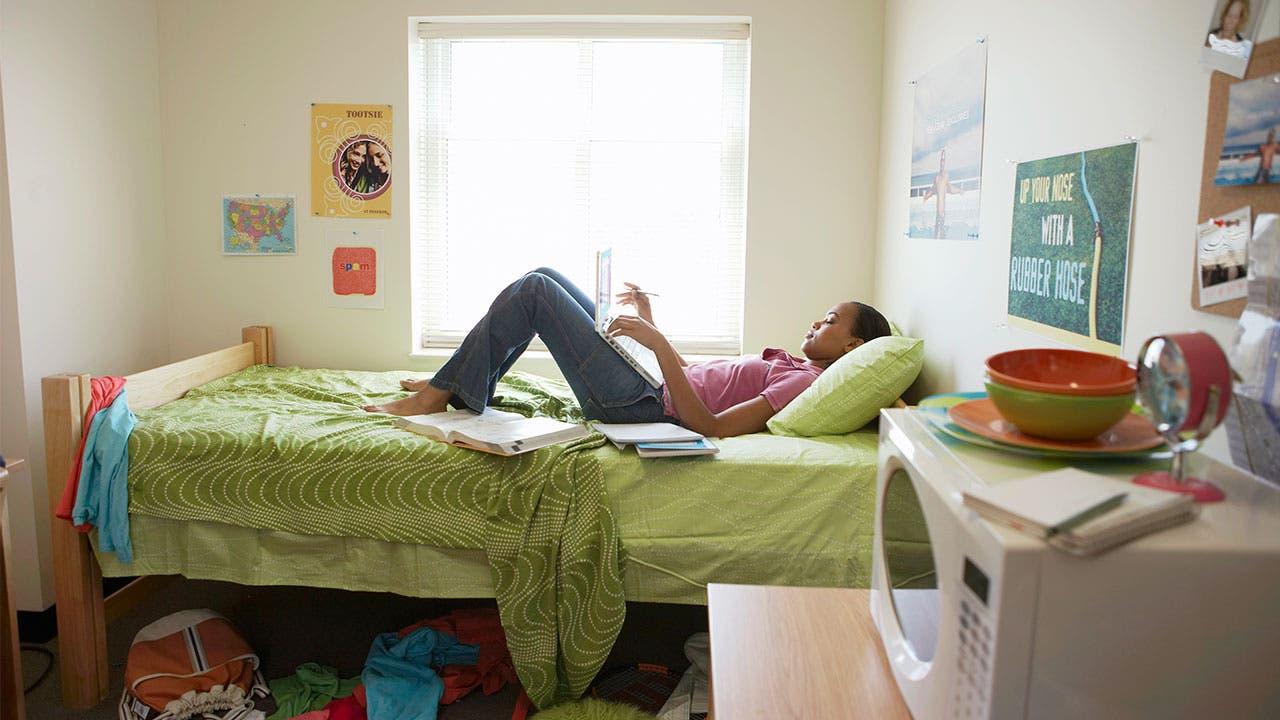 College student in dorm