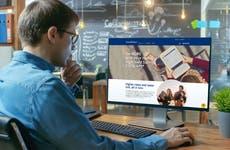 Man looking at Salem Five Direct Bank website