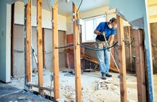 Man doing home renovation