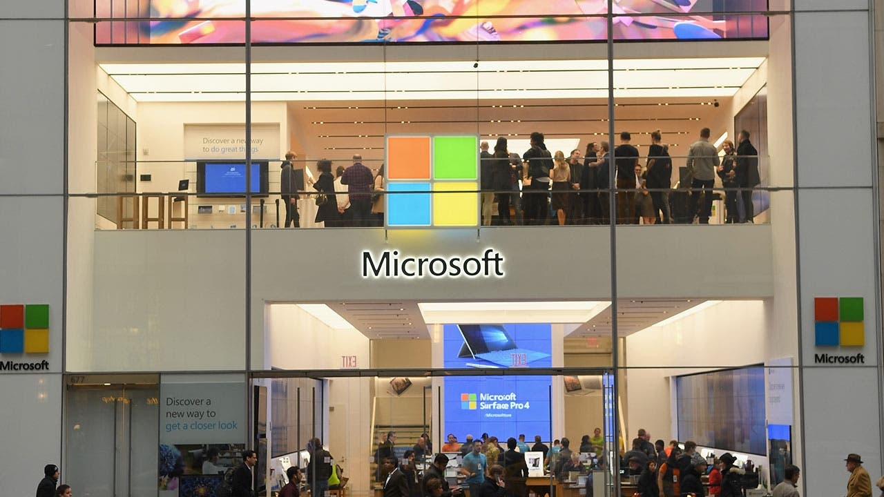 Microsoft storefront in New York