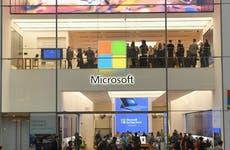 Microsoft storefront in New York