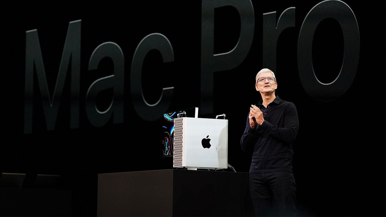 Tim Cook presenting the Mac Pro