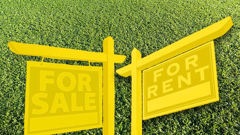 For sale and for rent sign