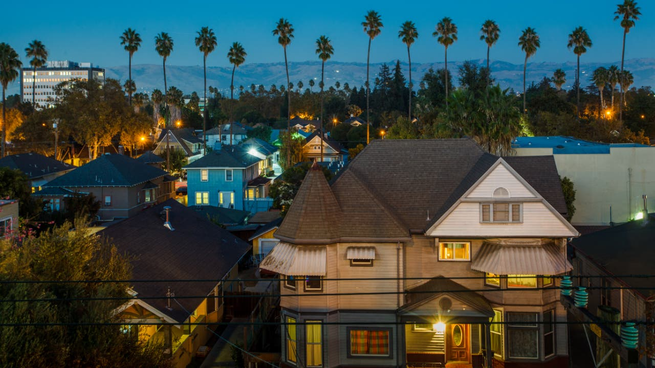 A neighborhood in California