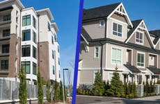 Side-by-side of a condo vs. a townhouse