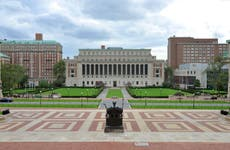 A picture of the quad at Columbia University