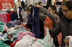 Consumers shopping at a Vineyard Vines store in the Chicago area.