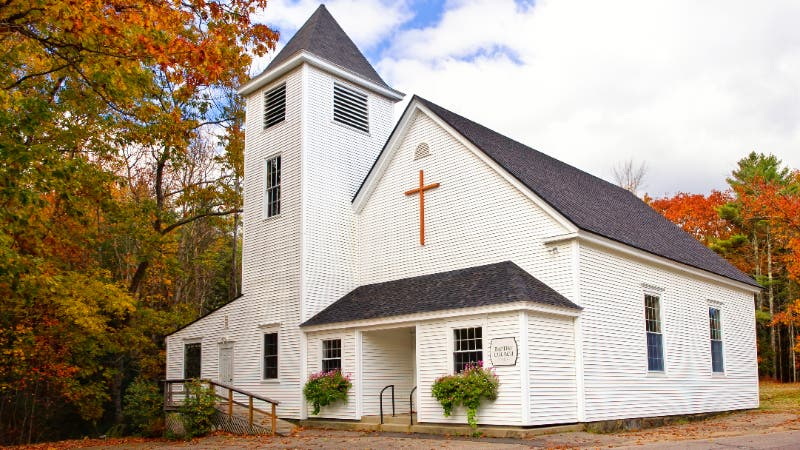 exterior of church in New England