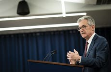 Federal Reserve Chairman Jerome Powell speaks at Fed's press conference.