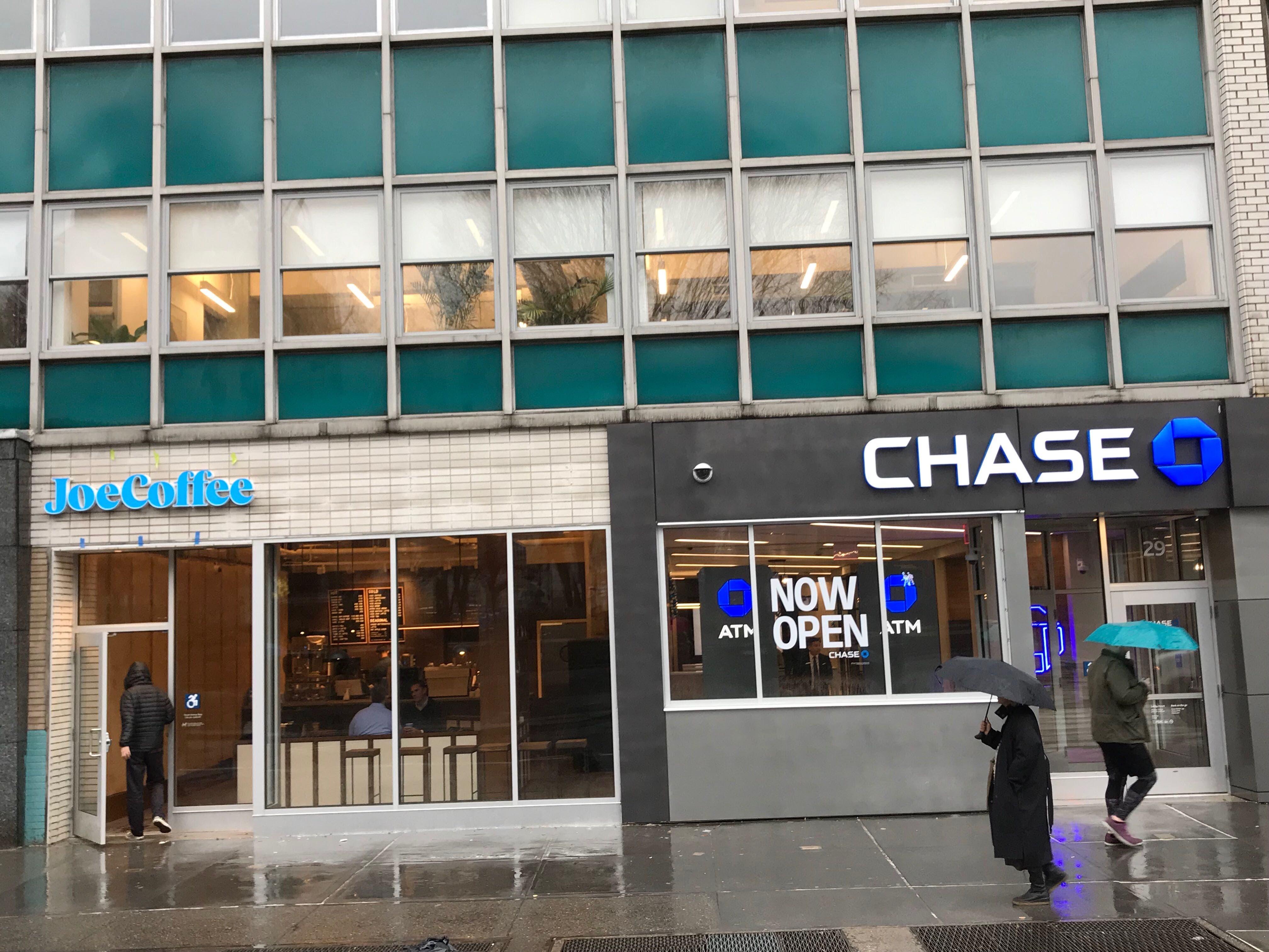 Chase Joe Coffee outside