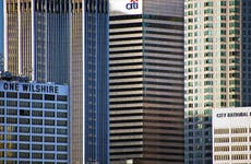 A picture of the Citi building in Los Angeles