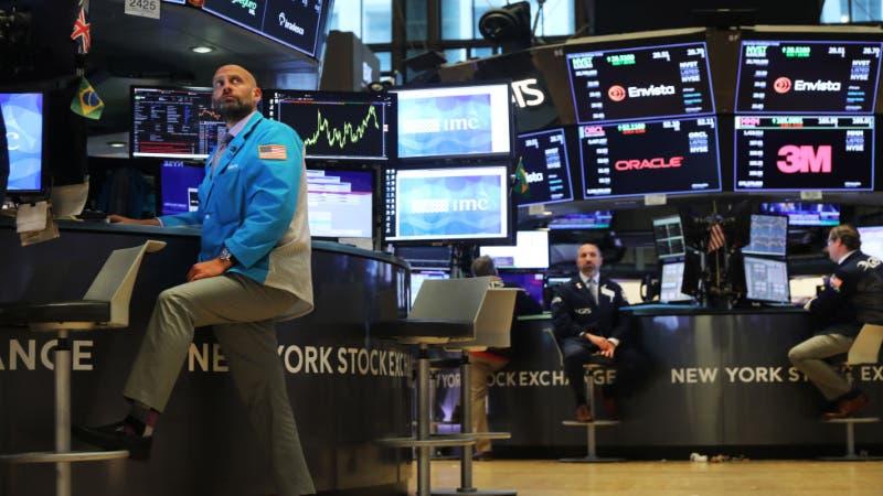 Man in New York Stock Exchange