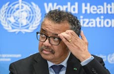 World Health Organization (WHO) Director-General Tedros Adhanom