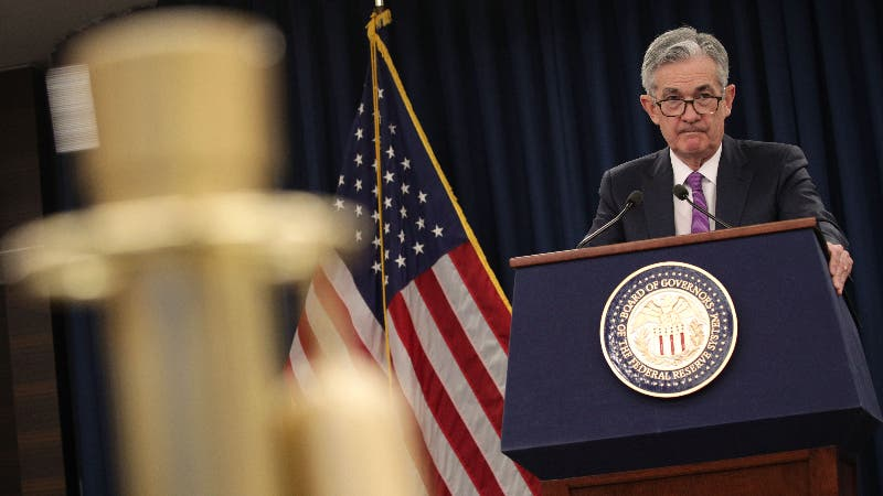 Fed Chairman Jerome Powell speaks at press conference