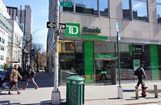 A TD Bank branch in New York City.