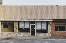 Vacant stores stand in Wickliffe, Kentucky