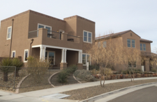 Suburban house in New Mexico