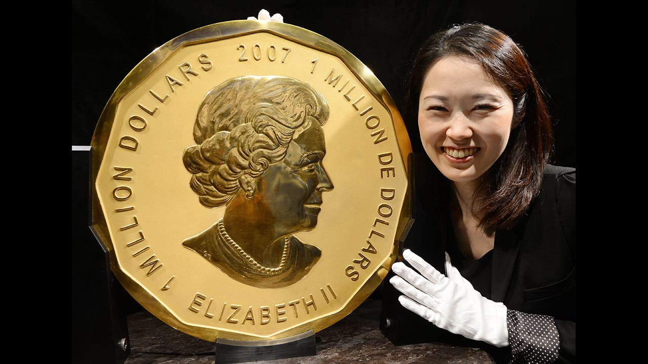 An example of the $1 million Canadian Gold Maple Leaf