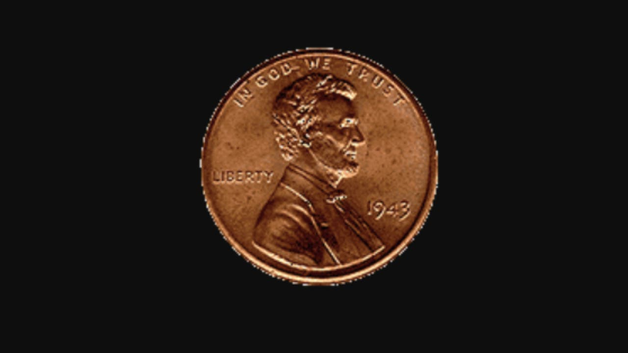 1943 Lincoln copper penny