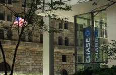 Chase sign at its New York headquarters