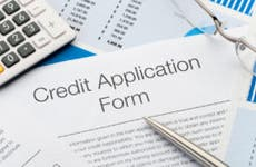 Credit card application paperwork