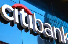 A Citibank sign