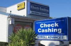A check-cashing store.