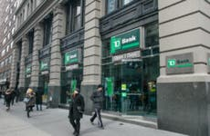 A TD Bank branch