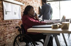 Businesswoman in wheelchair
