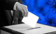 Illustration of American casting a ballot.