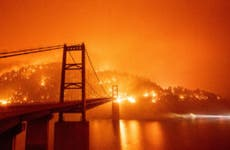 The 2020 Bear fire in Oroville, California
