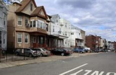 A neighborhood of older homes