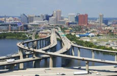 Winding highways leading in and out of Baltimore.